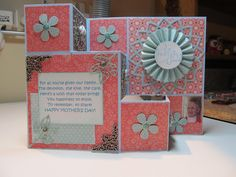 I have used the 3 Step Card to make my Mom's Mother's Day card. I used Tim Holtz'sdie to make the rosetteand Spellbinder's die for the ...