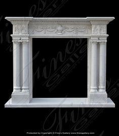 Fine's Gallery is North America's leading custom Mantel Fireplace designer of beautiful residential and commercial decorative and architectural products. Specializing in custom Fireplace Mantel designs. Marble Mantels - Website Page 14 Fine's Gallery, LLC Marble Fireplace Surround, Marble Fireplaces, Fireplace Surrounds, Front Door Design Wood, Door Gate Design, Custom Fireplace Mantels, Fireplace Design, Drawing Furniture, House Outside Design