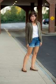 Fall Short Outfit with Transition Pieces