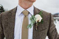 Groom's look for winter wedding -   Brown Winter Wedding Inspiration – KnotsVilla