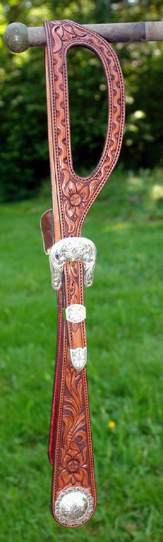 Handsome western style show headstalls in single, double ear, or browband style. Full hand tooled or basket stamped. Sterling Overlay or solid sterling hardware.