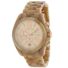 So on trend with this neutral yet varied finish that is so unique everyone will need to take a second look. Michael Kors MK5840 Womens Bradshaw Sand Acetate Chronograph Watch