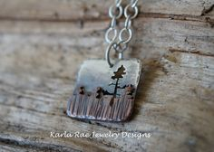 Sterling silver and copper pendant  Karla Rae Jewelry Designs