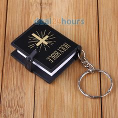 11/05/16 Deal 24 Hours Deal, China £1.96 for two Mini Holy Bible Religious Christian Jesus Keychain Keyring Key Ring Chain Gift