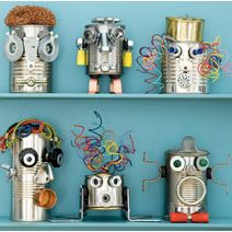 Manualidades para hacer con Niños: Robots Reciclados - Manualidades fáciles - Manualidades para niños - Charhadas.com