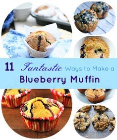 12 Incredible Blueberry Muffin Recipes!