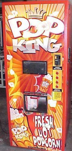 Pop King popcorn vending machine