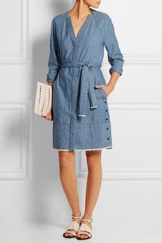 Proenza Schouler|Cotton-chambray dress|NET-A-PORTER.COM