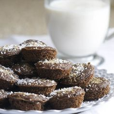 Brownies are many times made with cocoa powder or chocolate but I prefer to substitute with carob. Both are great and it's a matter of choice