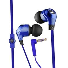 Monster Ncredible N-Ergy Tangle-Free In-Ear Headphones w/Inline Remote/Microphone (Cobalt Blue)