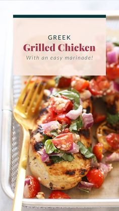 Marinated greek chicken is an easy meal for anyone to make! Grilling Recipes, Meat Recipes, Cooking Recipes, Healthy Recipes, Dinner Recipes, Healthy Grilling, Dinner Entrees, Protein Recipes, Chicken