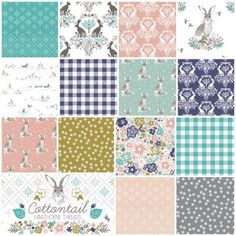 Cottontail Fat Quarter Bundle in Spring