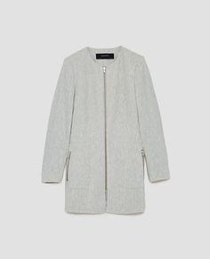 Image 11 of FROCK COAT WITH ZIP from Zara