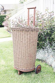 rolling market basket by sadieolive on Etsy, $158.00