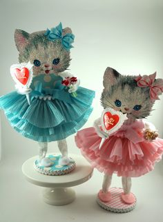 Darling Kitty Decoration by SparkleLovesWhimsey on Etsy https://www.etsy.com/listing/180494945/darling-kitty-decoration
