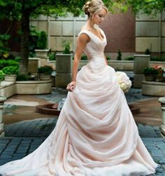 Blush Pink Wedding Dresses With Ruffles Sweetheart Vintage Bridal Gowns from SheDress Erröten rosa Brautkleider, Ballkleid Brautkleid, Brautkleid Blush Pink Wedding Dress, Blush Pink Weddings, Dress Wedding, Blush Gown, Drop Waist Wedding Dress, Prom Dress, Colored Wedding Dresses, Disney Inspired Wedding Dresses, Wedding Bride