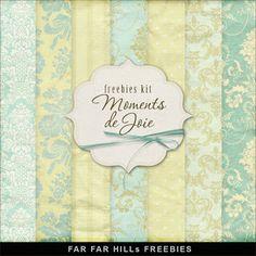 Freebies Kit of Backgrounds - Moments de Joie