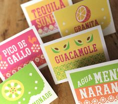 9 Festive Cinco de Mayo Ideas cinco-de-mayo-food-and-drink-cards for Cinco de Mayo fiesta - Fresh Drinks Mexican Fiesta Party, Fiesta Theme Party, Taco Bar Party, Day Of The Dead Party, Shadow Box, Diy Vintage, Fiestas Party, Foto Transfer, Vintage Inspiriert