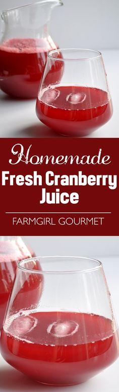 Homemade Fresh Cranberry Juice   farmgirlgourmet.com