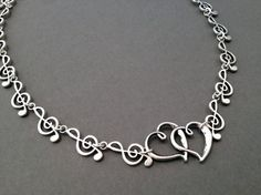 awesome Etsy listing at https://www.etsy.com/listing/176897728/silver-music-note-necklace-silver-music