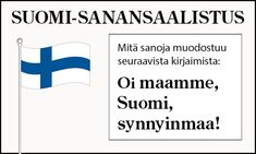 Finnish Language, Bingo, Independence Day, Finland, Classroom, How To Get, Teaching, School, Crafts