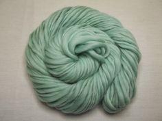Handspun  Yarn Merino Thick n Thin   Mint by MySweetSpot2 on Etsy, $13.00