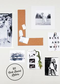 DIY cork board lette