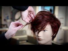 Medium Length Haircut Tutorial - Shag Haircut  with Side Bangs | MATT BECK VLOG 93 - YouTube