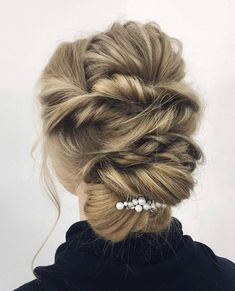 16 glamour    se Franz    sisch Braid Frisuren f    r 2015 http   h08 club 16     Bride hair accessory Pearls hair comb Minimalist Bridal headpiece Wedding  hair piece Elegant hair je
