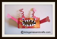 valentin card, valentine box, kid valentin, valentin box, monster valentin, tissue boxes, hungri, cooti catcher, craft ideas