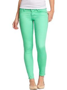 Women's The Rockstar Micro-Dot Skinny Jeans | Old Navy....$19 right now online!  How cute!