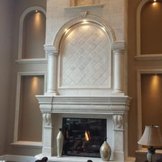 Normany Fireplace Mantel with overmantel