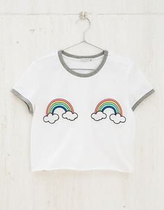 Unicorns/Bananas/Rainbows patch top - BSK teen - Bershka Turkey