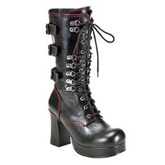 Demonia GOTHIKA-101 Gothic Platform Boots - Demonia Shoes - SinisterSoles.com