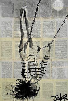 "Saatchi Art Artist: Loui Jover; Ink 2013 Drawing ""flight"""