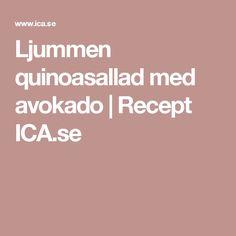 Ljummen quinoasallad med avokado | Recept ICA.se