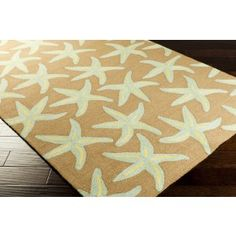 Driftwood Brown Starfish Area Rug