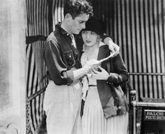 Ronald Colman and Vilma Banky in the lost silent film The Magic Flame (1927)
