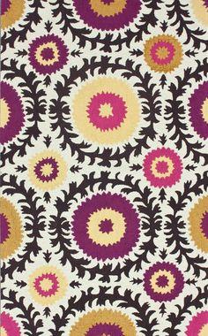 Suzani print area rug