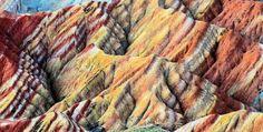 BEAUTIFULLY BIZARRE PLACES AROUND THE WORLD Part - X Zhangye Danxia Landform, China