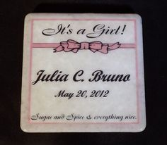 Personalized Coaster by TheCoasterMan on Etsy, $8.00