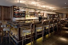 Hotels  Resorts : Amazing Restaurant And Bar Interior Design Inspirations - modern restaurant and bar decoration design with square theme d...