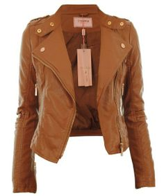 Brown Leather Jacket For Girls - JacketIn