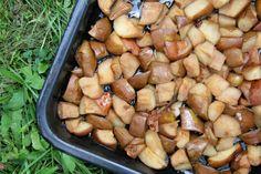 Ty nejsladší pečené hrušky - Na ovoce Stuffed Mushrooms, Potatoes, Vegetables, Recipes, Food, Syrup, Stuff Mushrooms, Potato, Essen