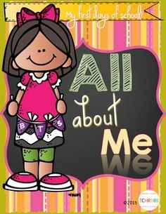 Back to school days in kindergarten!  First day's of school workbook on all about me! Use these activities during the first days of schools to get to know your students and pre-assess them for kinder readiness skills! Nothing is more rewarding than letting your little one knows you want to know about them!