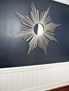 diy starburst mirror bathroom above toilet