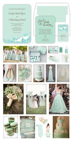"""Love Birds"" Mint Wedding"