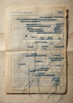 Ambiguous Documents - #fiber #fibre #text #paper #thread #art