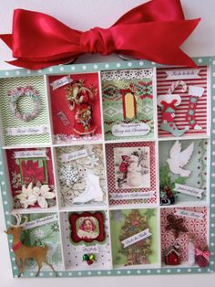 Christmas decor printers tray shadowbox Winter by paperwild