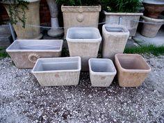 Special handmade light concrete pots